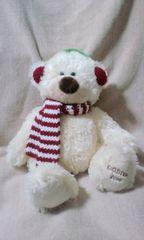 GODIVA2006年テディベアイヤーマフ・マフラーのクマさん35センチ。