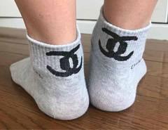★送込★新品★シャネル★ノベルティ★靴下★白★