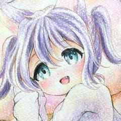 自作イラスト オリジナル 狐耳の女の子