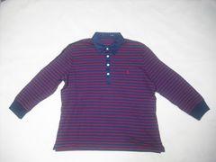 504 女 Ralph Lauren ラルフローレン 7分袖ポロシャツ XLサイズ