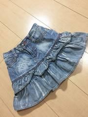 ◆ 美品 ◆ SOMETHING EDWIN エドウィン 140cm デニム スカート