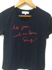 minimumネイビーロゴTシャツ