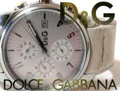 良品 1スタ★D&G ドルガバ【クロノグラフ】SANDPIPER 腕時計