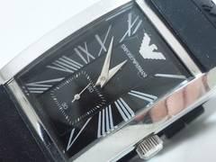 6225/エンポリオアルマーニ★AR-0143定価7万円位メンズ腕時計レクタンギュラー