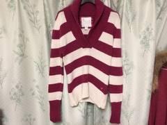アメリカンイーグルピンクボーダーニットセーター長袖