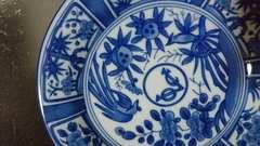 VOC…鳳凰染め付け飾り皿…窯印301,5