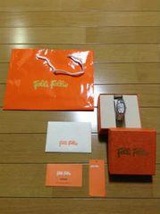 Folli Folli(フォリフォリ)ラインストーン腕時計
