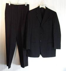 size48☆美品☆アルマーニ 3釦スーツ ブラック系