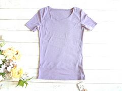 新品 jacopass メッシュ Tシャツ パープル 紫 ストレッチ