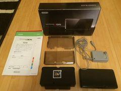 3DS本体 充電器 ケース モンハン4Gソフト付 コスモブラック 美品
