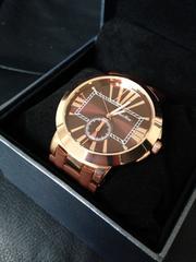 存在感あるbigサイズ★上品な光沢フェイスメンズ腕時計CLAUDIA