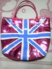 イギリス柄スパンコール鞄