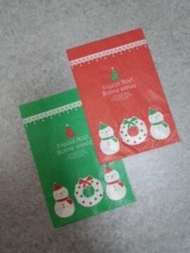 ■クリスマス■マチ付袋(中)雪だるま10枚