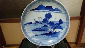 江戸時代→山水帆船図染付→通称有亀→絵皿