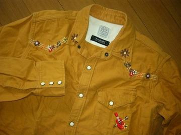 ルードギャラリーRUDE GALLERYウエスタンシャツ2刺繍ステッチ