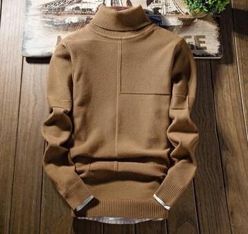 メンズセーター ニット トップス ハイネック 暖かい M~3XL/AK579