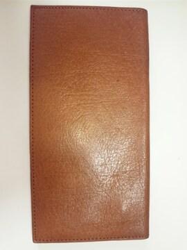 12369/未使用品のブラウンレザー革の長財布です★プレゼント用にお勧め