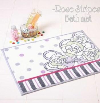 新品Rose★薔薇バスマット★リボン フェミニン ブーケ