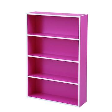 文庫本収納ラック 本棚カラーボックス ピンク