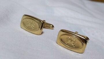 正規 バーバリー ホース レリーフ騎士ロゴカフス ゴールド ナイトカフリンクス アートボタン