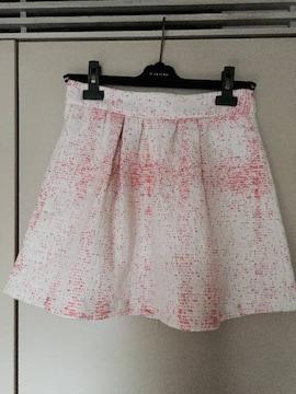 ZARA ネオンカラーツイード生地 フレアミニスカート sizeXS