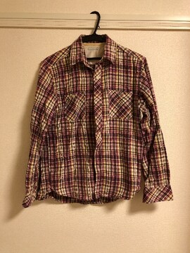 GUメンズチェックシャツ