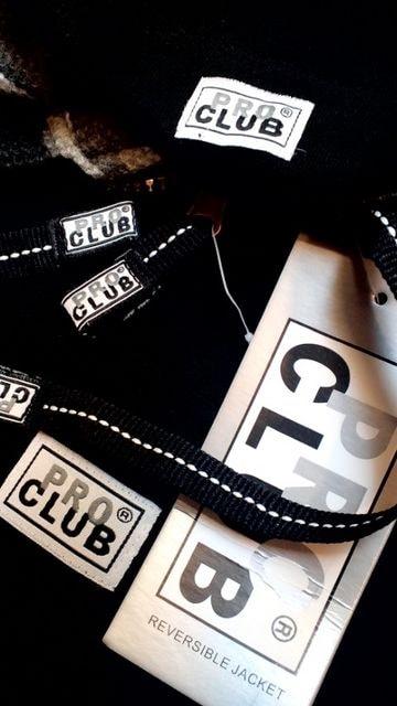 LA直輸入!PROCLUB迷彩リバーシブルジップパーカー黒シティカモサイズ5XL < 男性ファッションの
