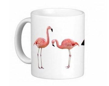 チリーフラミンゴとベニイロフラミンゴのマグカップ