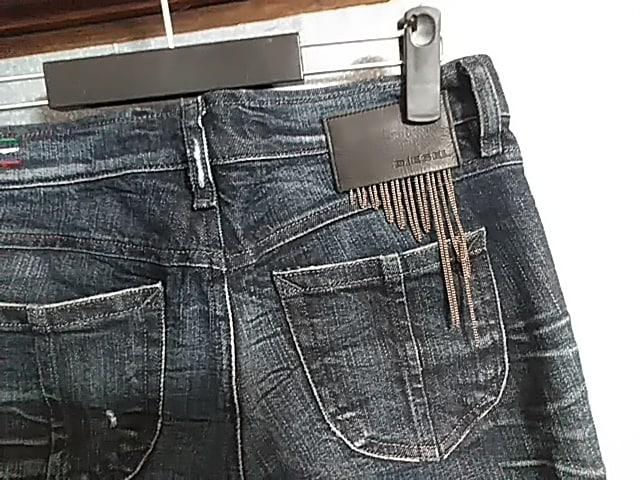 DIESELのデザインジップダメージZIVYジーンズ送料無料 < ブランドの