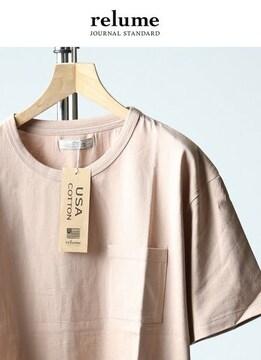 ジャーナルスタンダードレリューム* relume★U.S.A.天竺Tシャツ(S)/新品ピンク