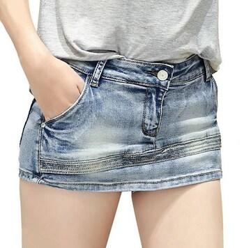 見た目はミニスカート★デニムショートパンツ(Sサイズ)