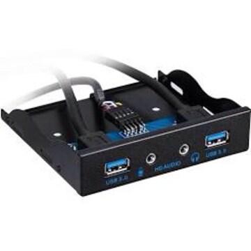 BlueFire 3.5インチ 20 Pin USB 3.0 2ポート+USBハブ HDオーディ