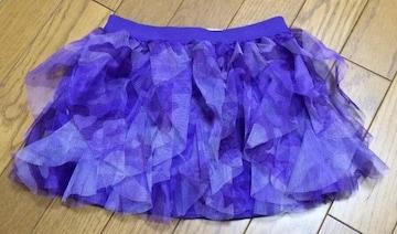 Я】インポートカモフラ柄 紫 スカート 4Tサイズ チュチュ 迷彩