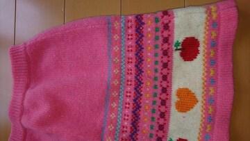 女の子 秋冬スカート ミキハウス サイズ120 未使用 送料無料