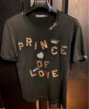 美品ドルチェ&ガッバーナD&Gブラック44ワッペン半袖ロゴTシャツs