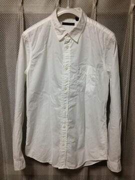 HARE ハレ 無地 コットン 長袖シャツ Sサイズ 白色 日本製 インナー ラルフローレン