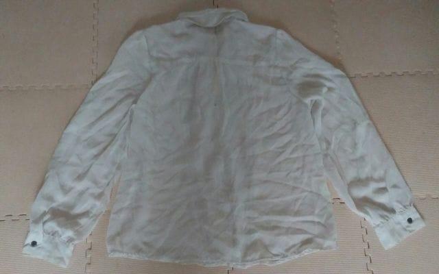 Surene Lサイズ 美品 白 シースルー < 女性ファッションの