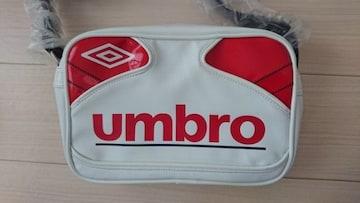 umbro(アンブロ)ミニショルダーバッグ白×赤*新品未使用