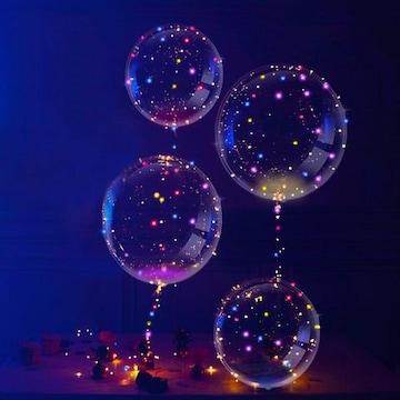 4個入り お飾りライト 18インチ光る風船