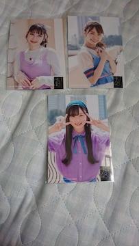 HKT48 早送りカレンダー特典写真3枚セット