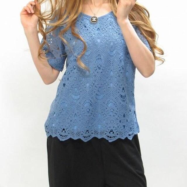 NEW最新クロシエ刺繍レース大人キレイメTシャツ5330 < 女性ファッションの