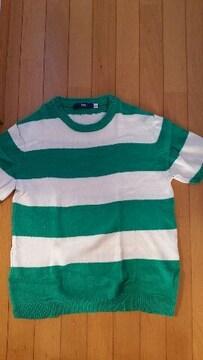 緑色のセーター【半袖/Lサイズ】