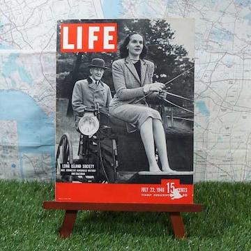 激レア【輸入雑誌】ライフ Long Island Society -1946.7.22-