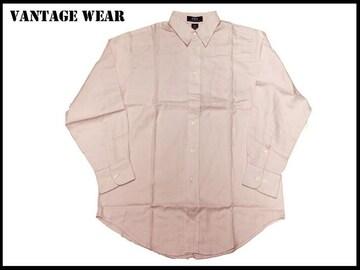 新 【ピンク色-2X】Vantage大きいシャツアメリカ輸入品