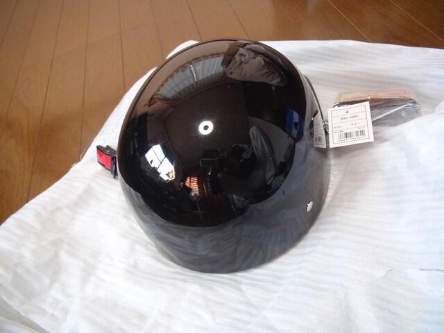 Mota cap styleヘルメットハーフタイプ黒フリサイズ新品タグ!。 < 自動車/バイク