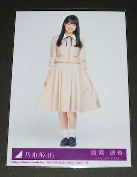 乃木坂46 しあわせの保護色 生写真1枚 賀喜遥香