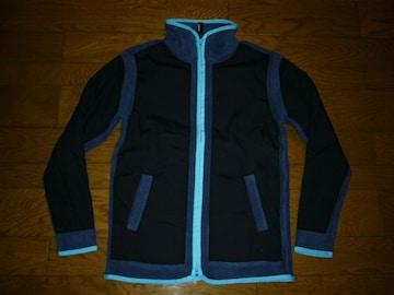 新品SILASサイラス切替フリースジップジャケットM紺系薄手