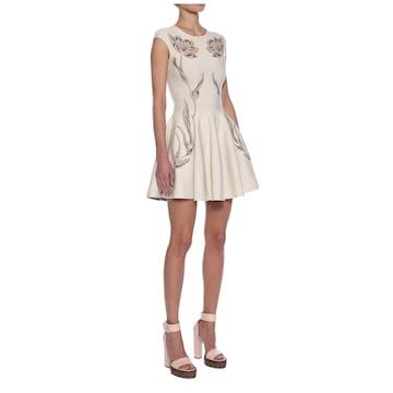 定価26万 アレキサンダーマックイーン フラワー ジャガード サークル ドレス ワンピース