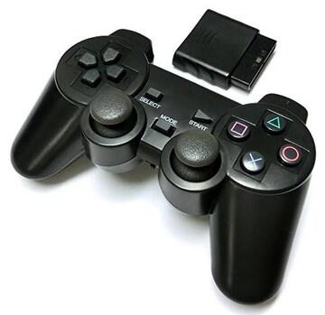 PS2 ワイヤレスコントローラー (プレステ2で使える2.4Ghz無線コ