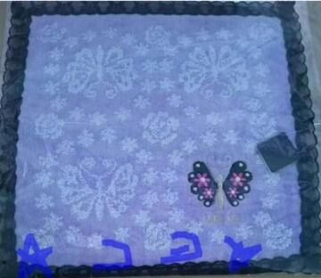 アナスイ ANNA SUI ハンカチ 蝶 縁レースあり 2種類 新品 未使用